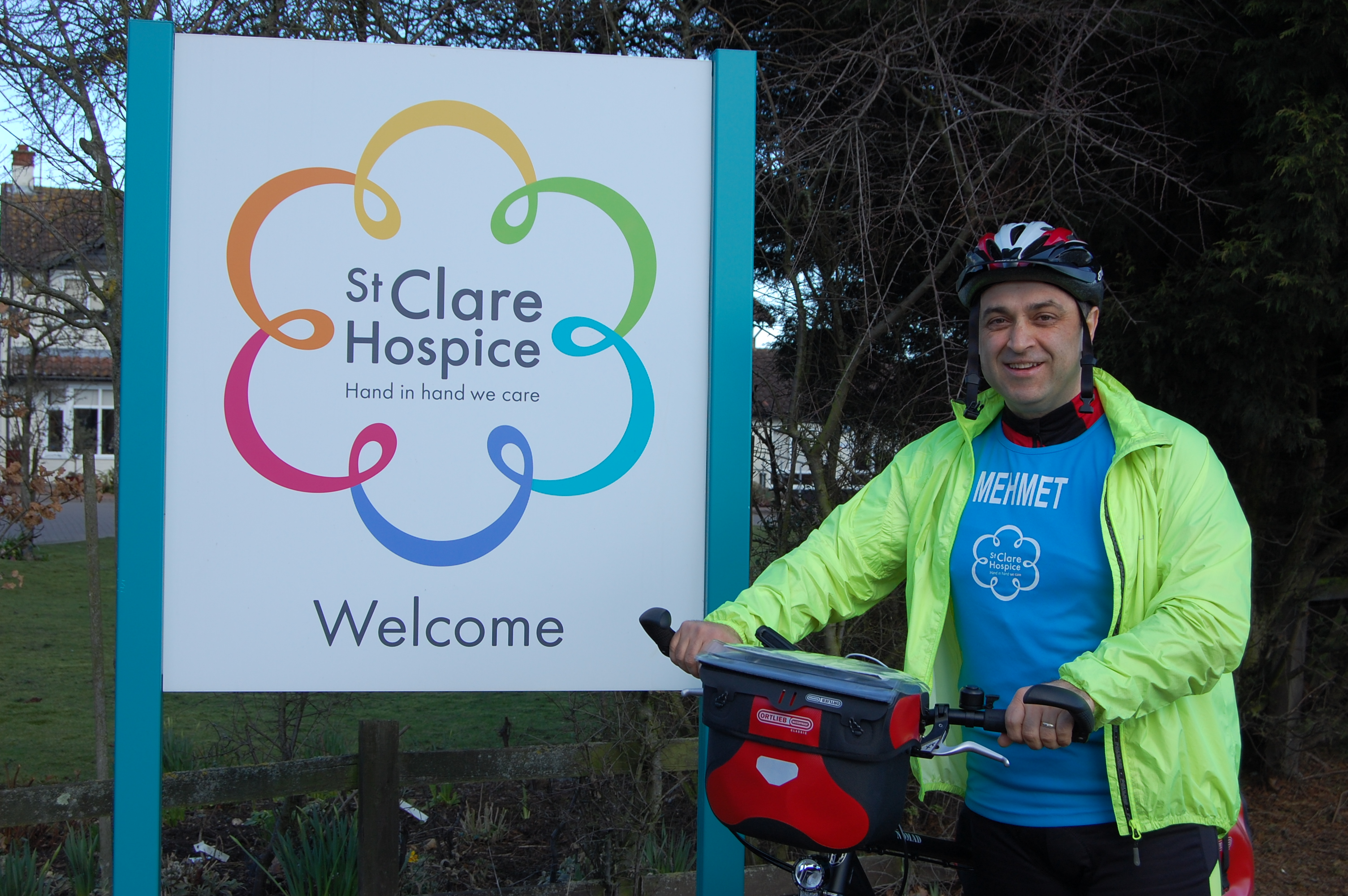 Mehmet Cakmak outside St Clare Hospice