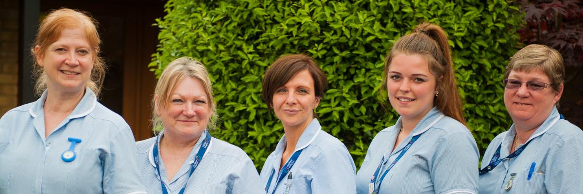 A row of nurses