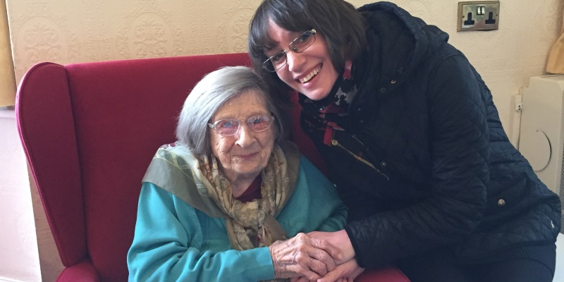 Clare and her Nan, Lily