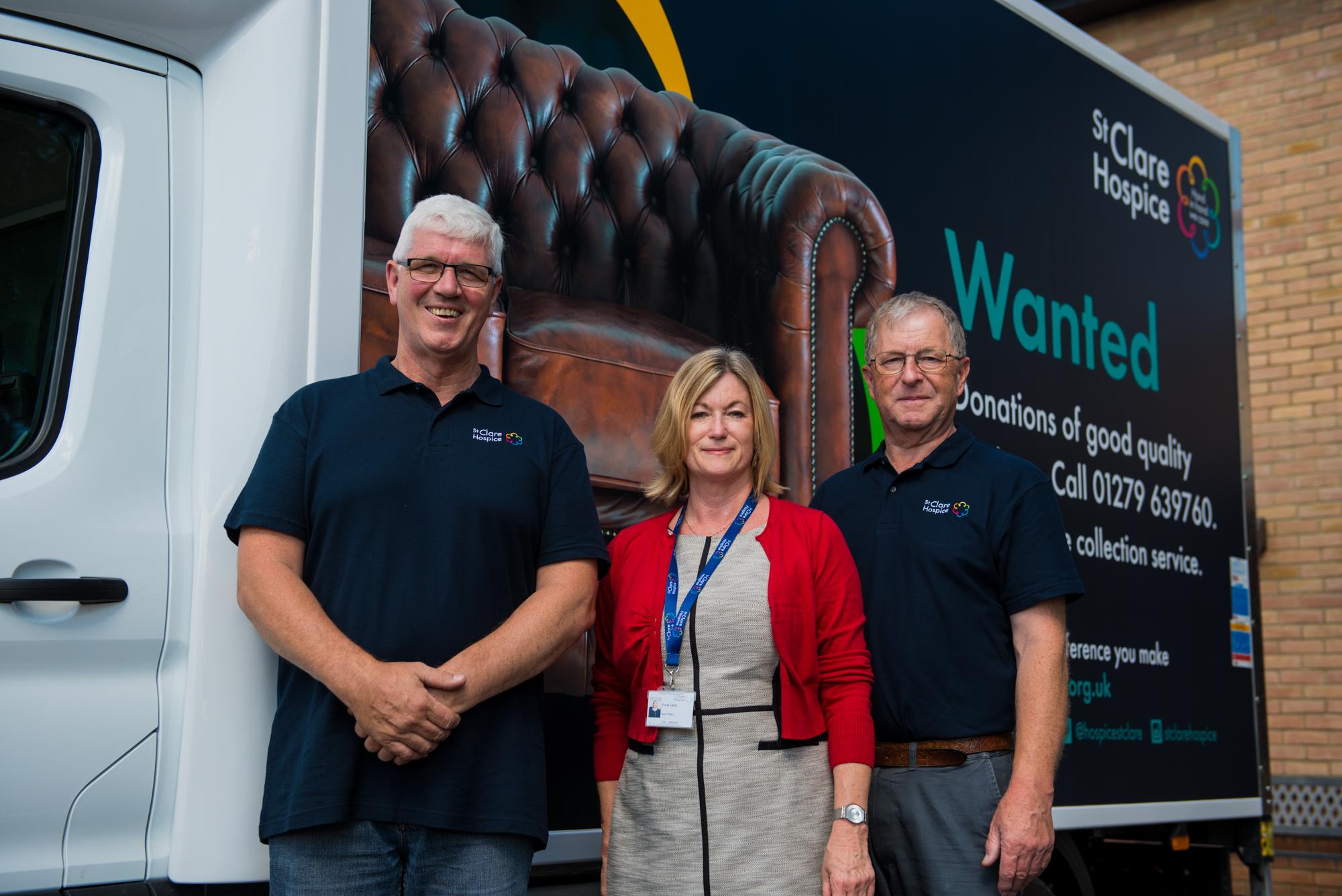 Van with staff