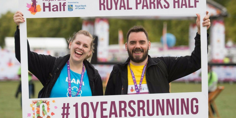 Brother and sister duo, Dani De'ath and Andrew Bigg, celebrate completing Royal Parks Half