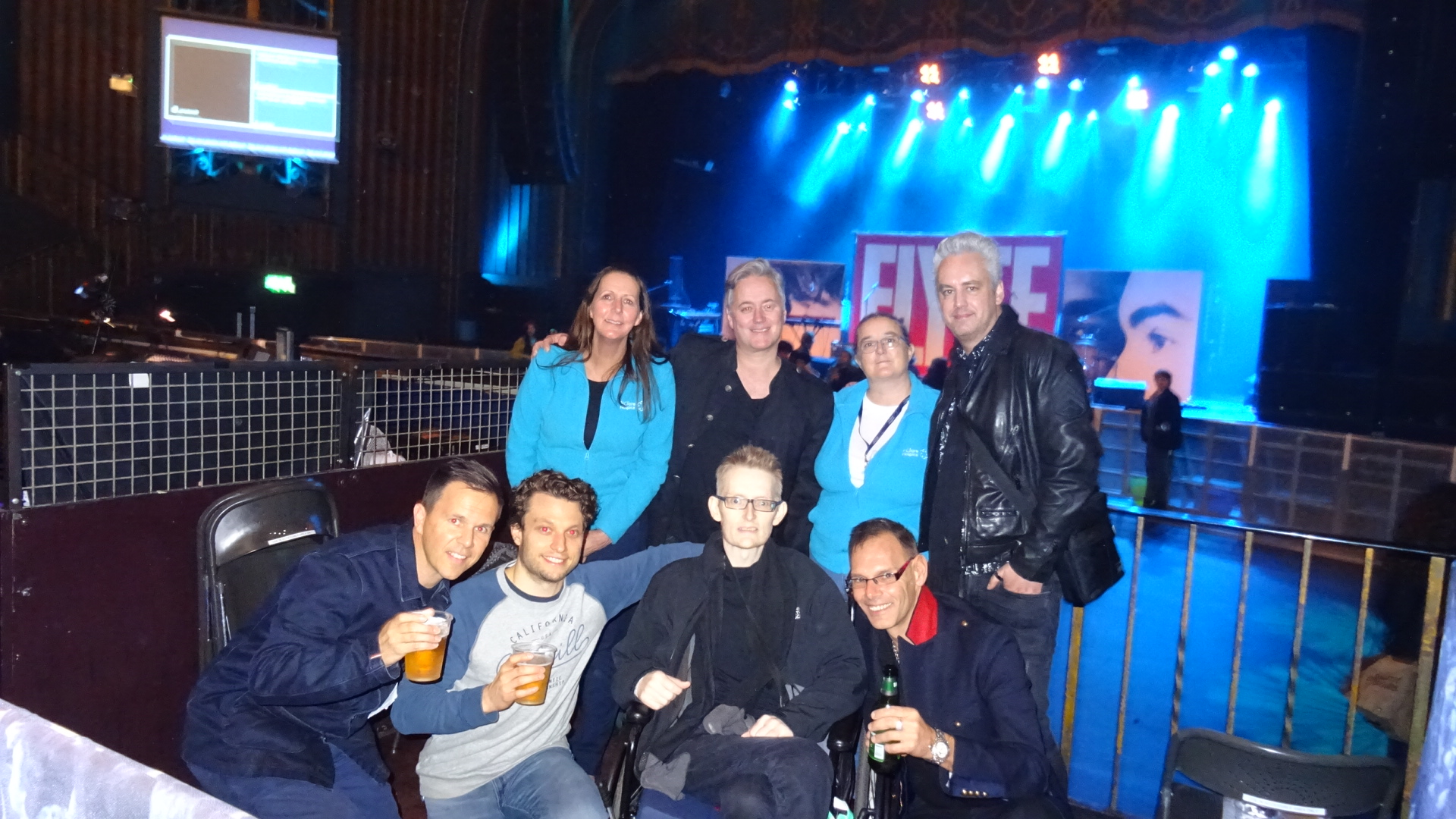 Keith with staff and friends at Lemon Twiggs concert