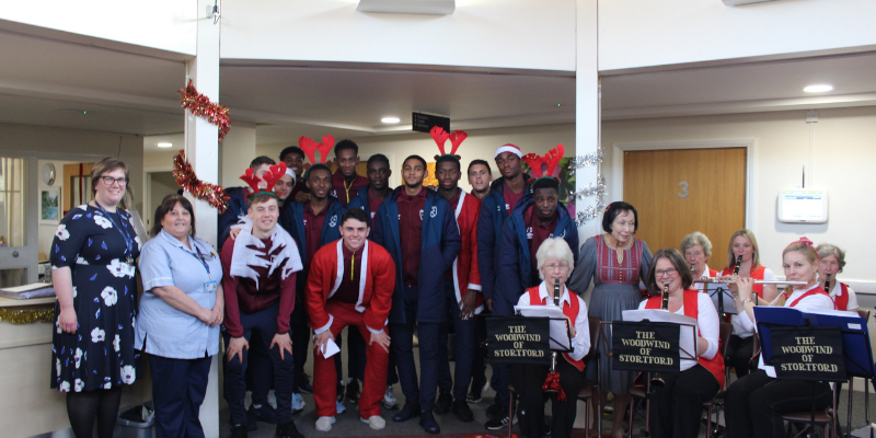 West Ham football players bring festive cheer
