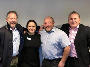 Business Ambassadors L-R Paul Donovan, Amy Jacobs, Shaun Pledger and Ross Chaplin