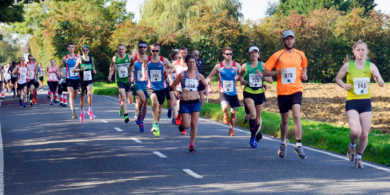 St Clare 10k 2020: Runners cross the staggered start line